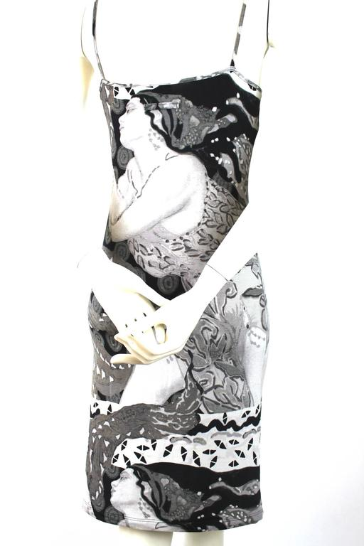 Jean Paul Gaultier Deco Print Slip Dress 2