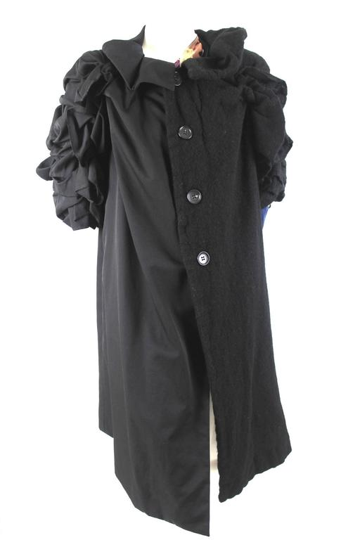 Comme des Garcons AD 2011 A/W Runway Left Half Wool Coat For Sale 4