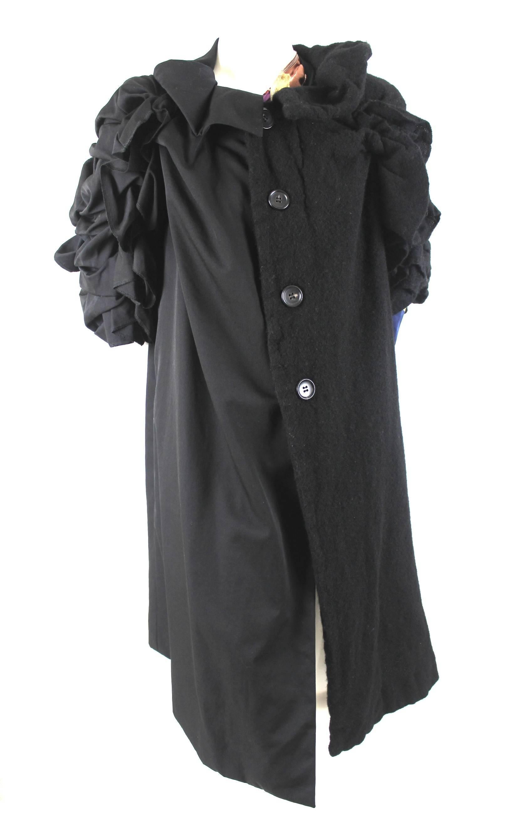 3e2448fbad1 Comme des Garcons AD 2011 A W Runway Left Half Wool Coat For Sale at 1stdibs
