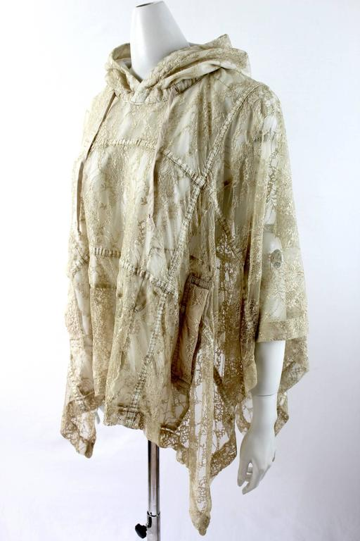 Comme des Garcons AD 2011 Gold Lace Hooded Poncho 3