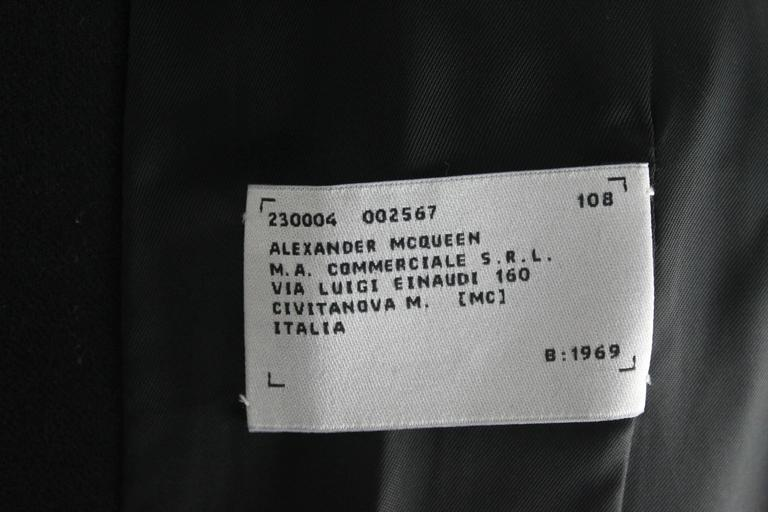 Alexander McQueen Fall 1996 Dante Collection with Date of Birth Label 9