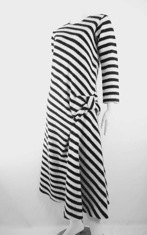 Gray Junya Watanabe 2003 Collection Wool Bow Dress For Sale