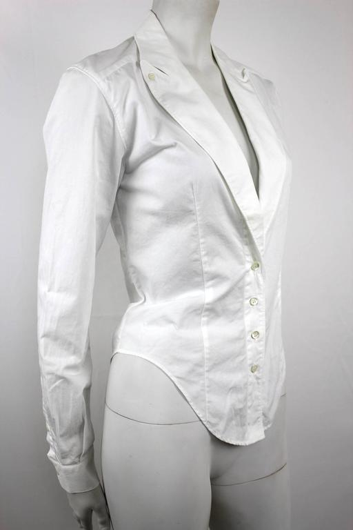 Alexander McQueen 1990's Fitted Lapel Blouse In Excellent Condition For Sale In Bath, GB