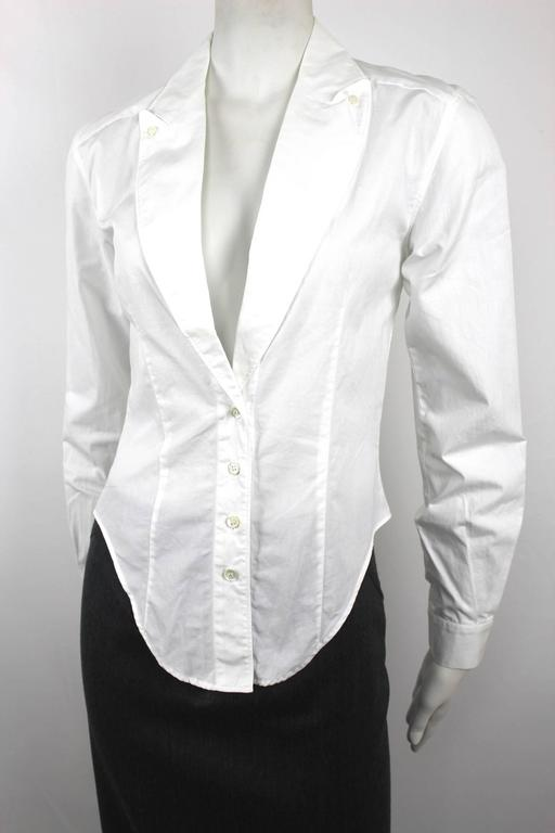 Alexander McQueen 1990's Fitted Lapel Blouse 10