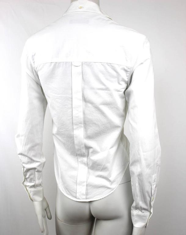 Alexander McQueen 1990's Fitted Lapel Blouse For Sale 2