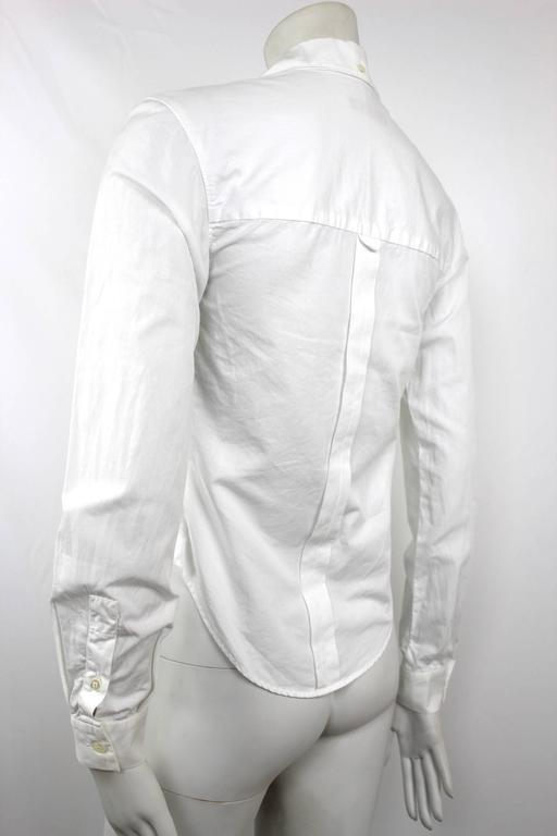 Alexander McQueen 1990's Fitted Lapel Blouse For Sale 1