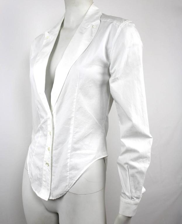 Alexander McQueen 1990's Fitted Lapel Blouse For Sale 3