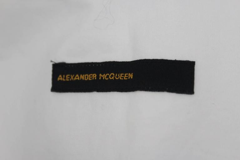 Alexander McQueen 1990's Fitted Lapel Blouse For Sale 4