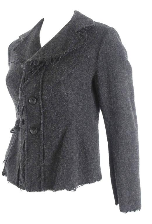 Junya Watanabe 2003 Collection Raw Edged Wool Jacket In Excellent Condition For Sale In Bath, GB