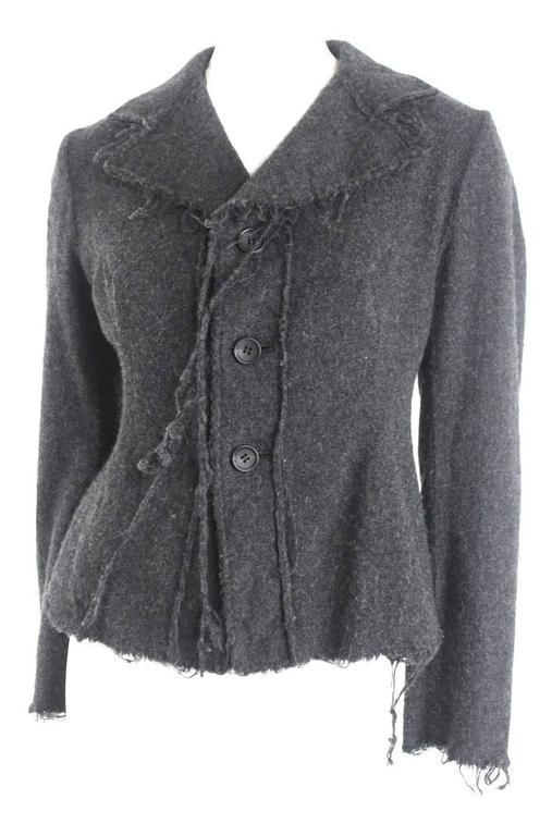 Junya Watanabe 2003 Collection Raw Edged Wool Jacket For Sale 2