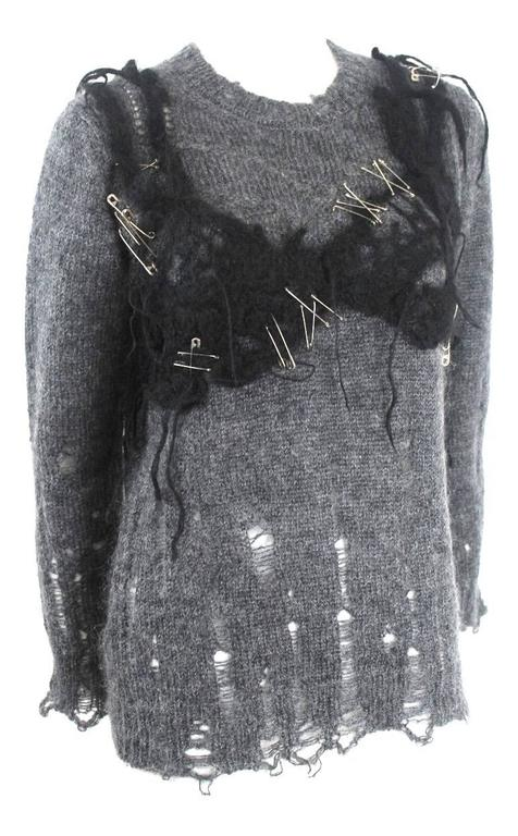 Tricot Comme des Garcons Mohair Outer Bra Sweater For Sale 3