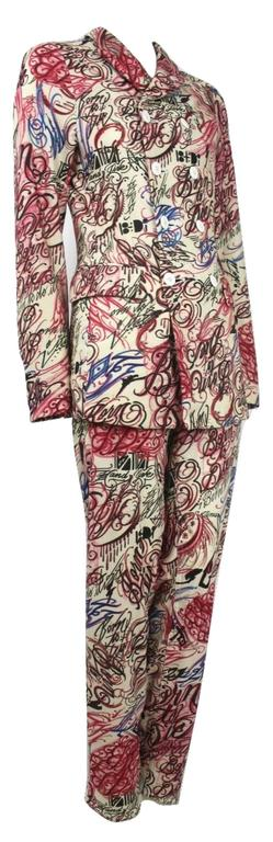 Comme des Garcons Homme Plus 2015 Collection 'Born to Die' Calligraphy Suit In New Condition For Sale In Bath, GB