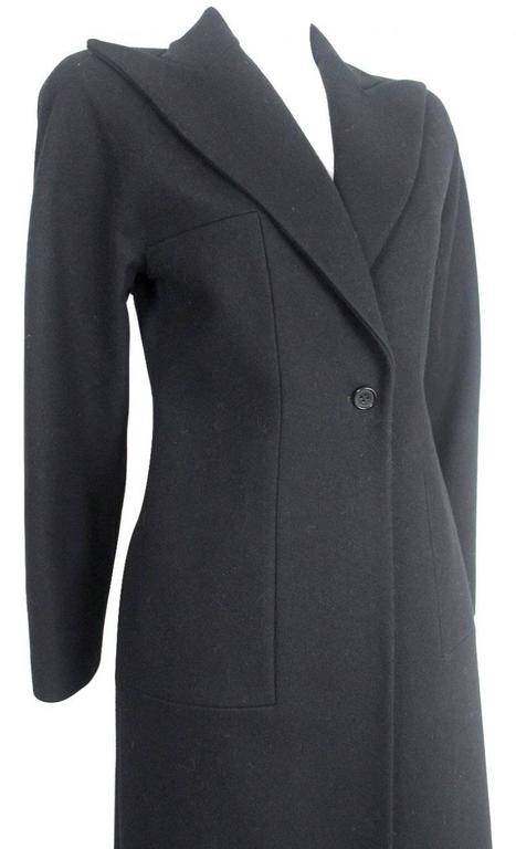 Alexander McQueen 1990's Tailored Wool Runway Coat Labelled size M Excellent Condition