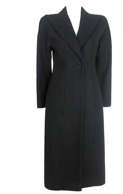 Alexander McQueen 1990's Tailored Runway Wool Coat In Excellent Condition For Sale In Bath, GB