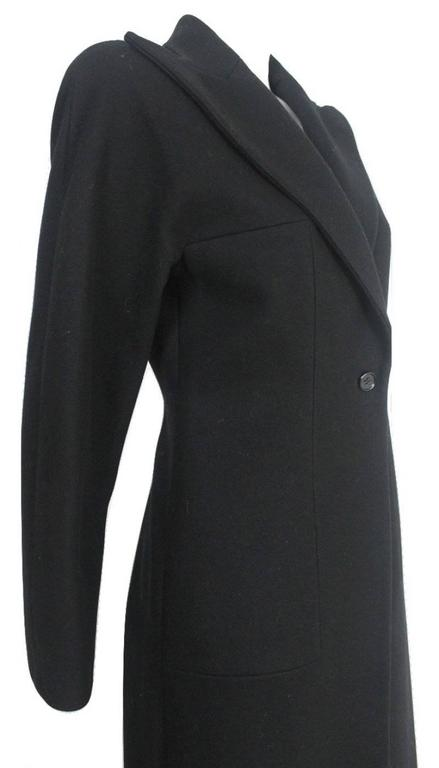 Alexander McQueen 1990's Tailored Runway Wool Coat For Sale 1