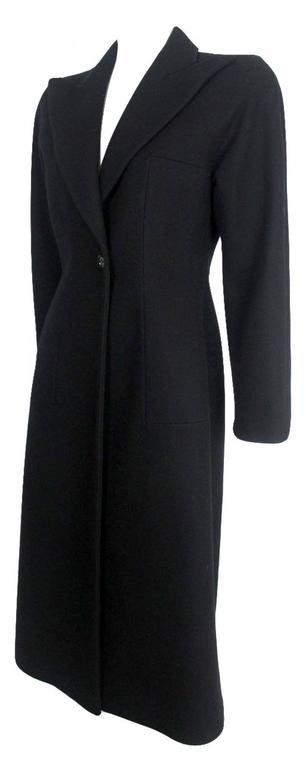 Alexander McQueen 1990's Tailored Runway Wool Coat For Sale 3