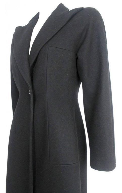 Alexander McQueen 1990's Tailored Runway Wool Coat For Sale 4