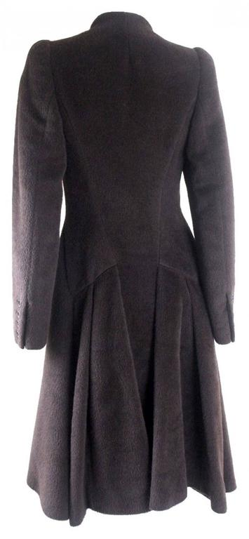 Alexander McQueen 2000 Collection Mohair and Alpaca Coat For Sale 1