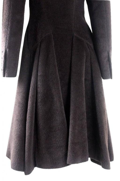 Alexander McQueen 2000 Collection Mohair and Alpaca Coat For Sale 2