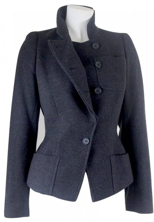 Alexander McQueen 2000 Collection Wool and Cashmere Runway Jacket For Sale 1