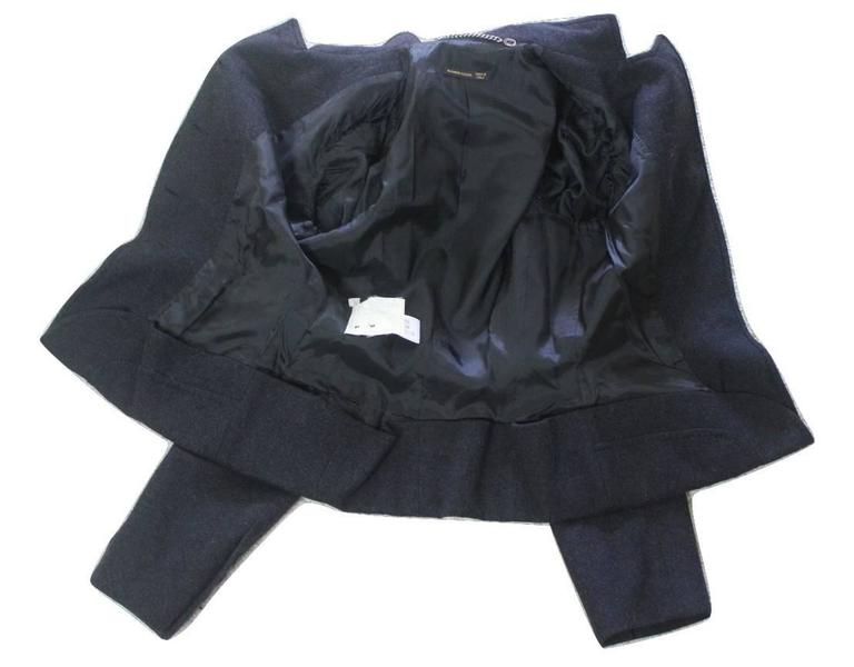 Alexander McQueen 2000 Collection Wool and Cashmere Runway Jacket For Sale 5