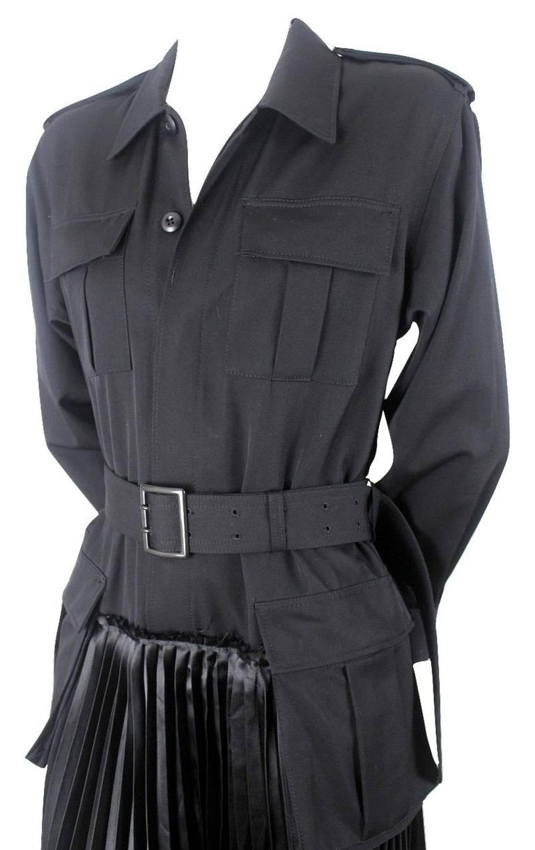 Black Junya Watanabe 2006 Collection Military Dress For Sale