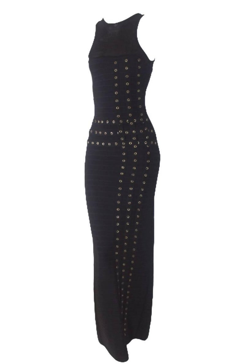 Herve Leger Bandage Eyelet Dress 2