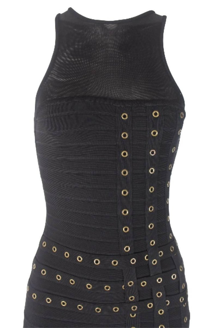 Herve Leger Bandage Eyelet Dress 3