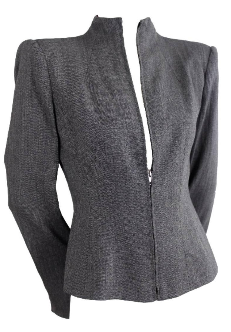 Gray Alexander McQueen 1998 Joan Collection Jacket For Sale