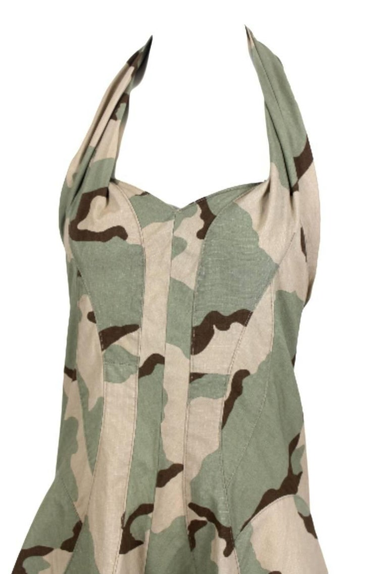 Brown Junya Watanabe 2005 Collection Camouflage Dress  For Sale