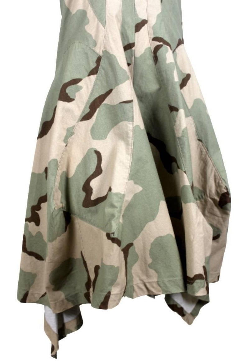 Junya Watanabe 2005 Collection Camouflage Dress  In Excellent Condition For Sale In Bath, GB