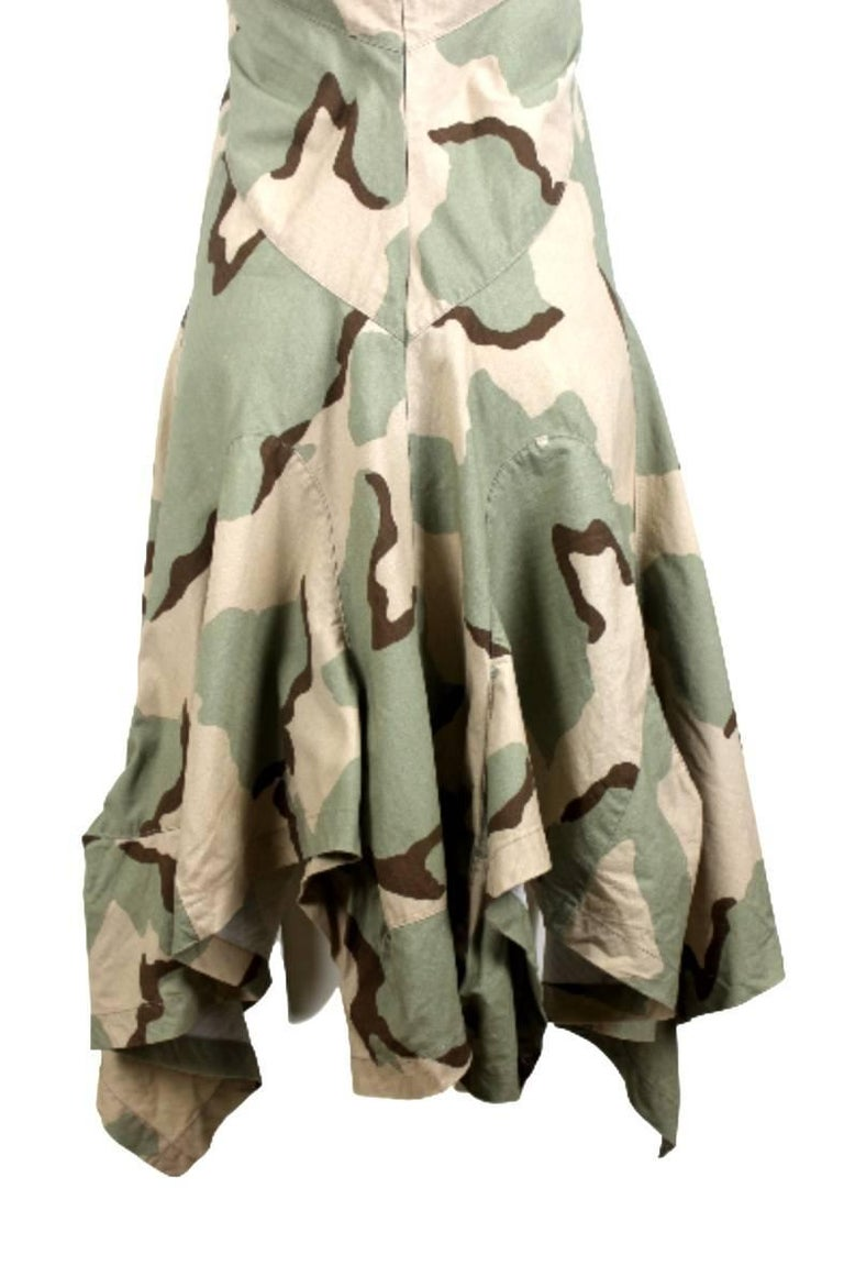 Women's Junya Watanabe 2005 Collection Camouflage Dress  For Sale