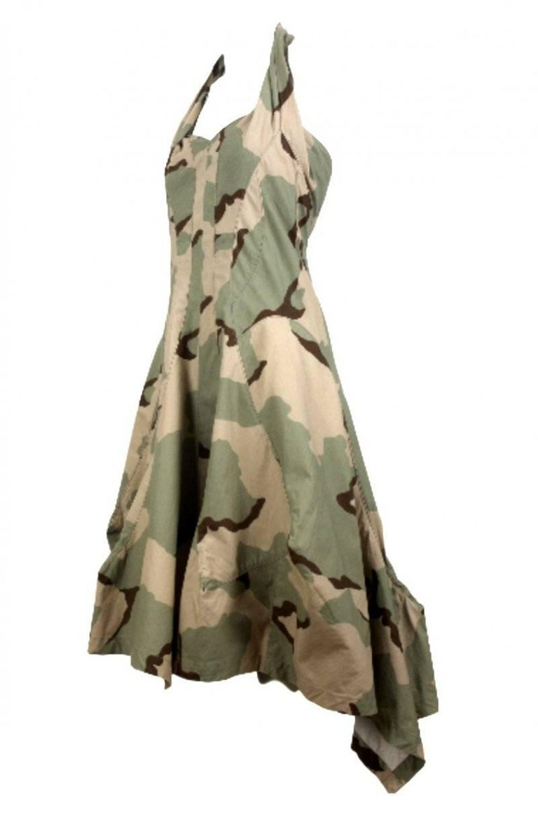 Junya Watanabe 2005 Collection Camouflage Dress  For Sale 2