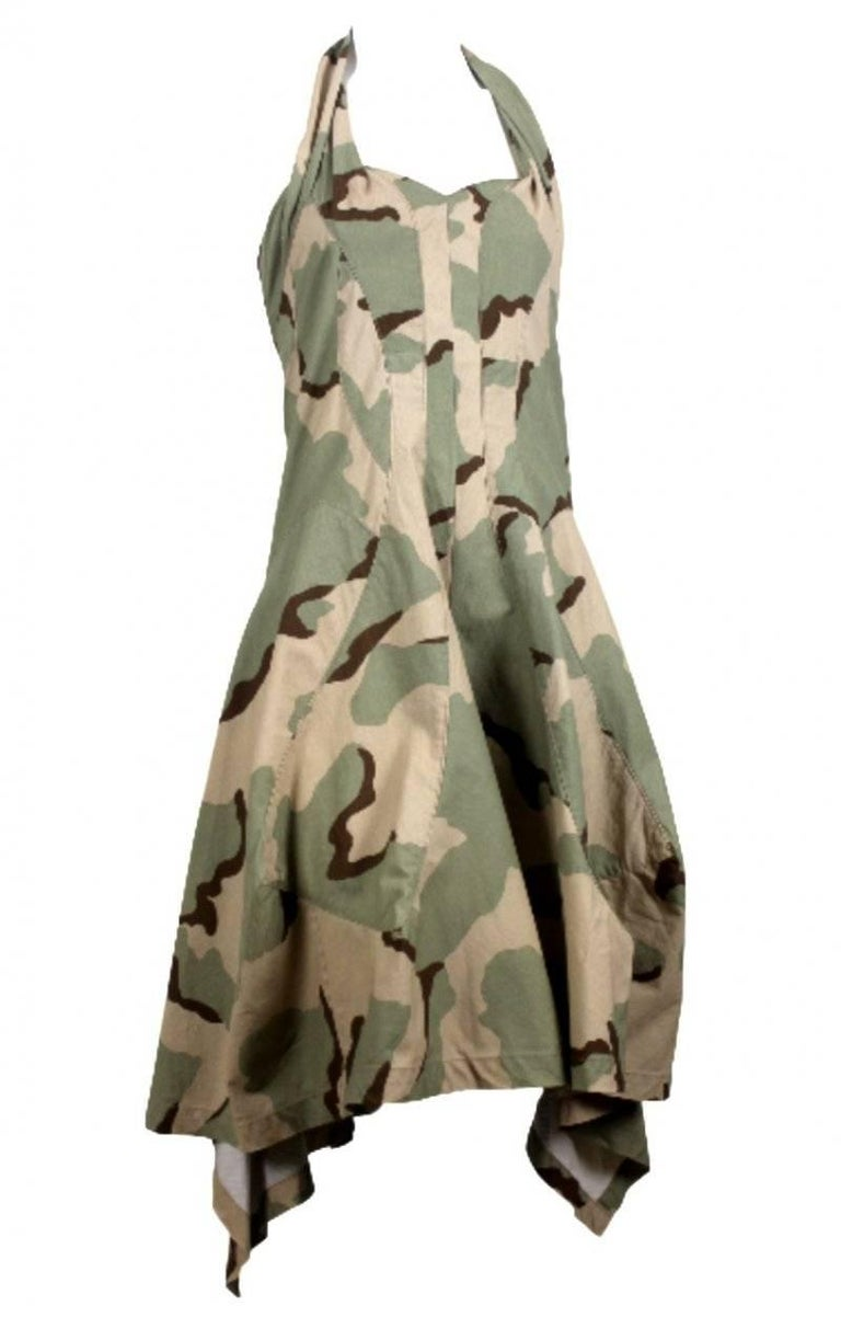 Junya Watanabe 2005 Collection Camouflage Dress  For Sale 3