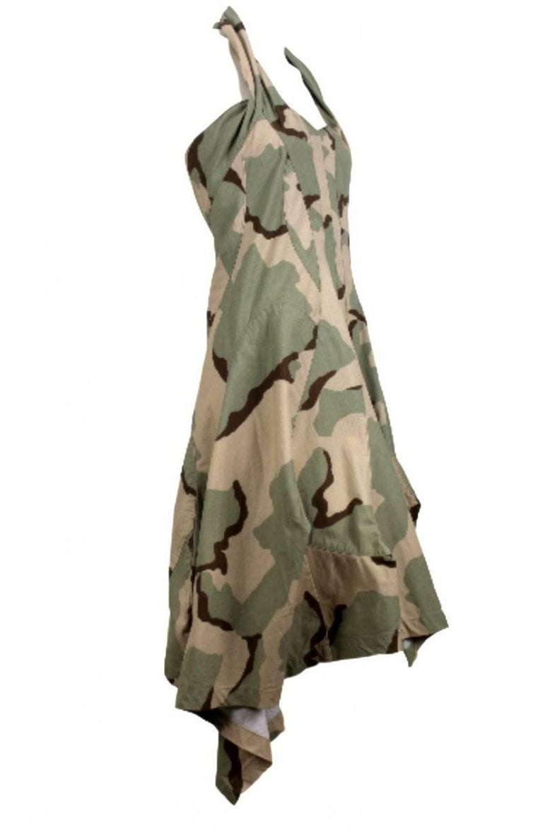 Junya Watanabe 2005 Collection Camouflage Dress  For Sale 4