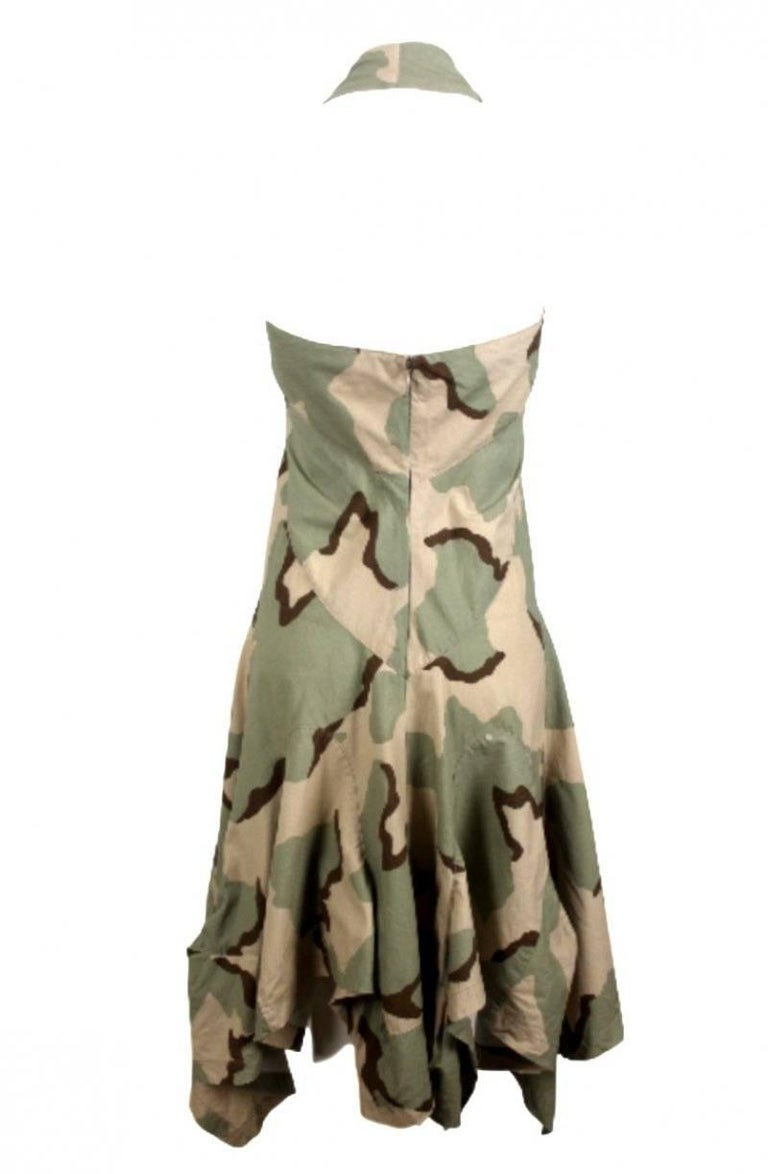 Junya Watanabe 2005 Collection Camouflage Dress  For Sale 5