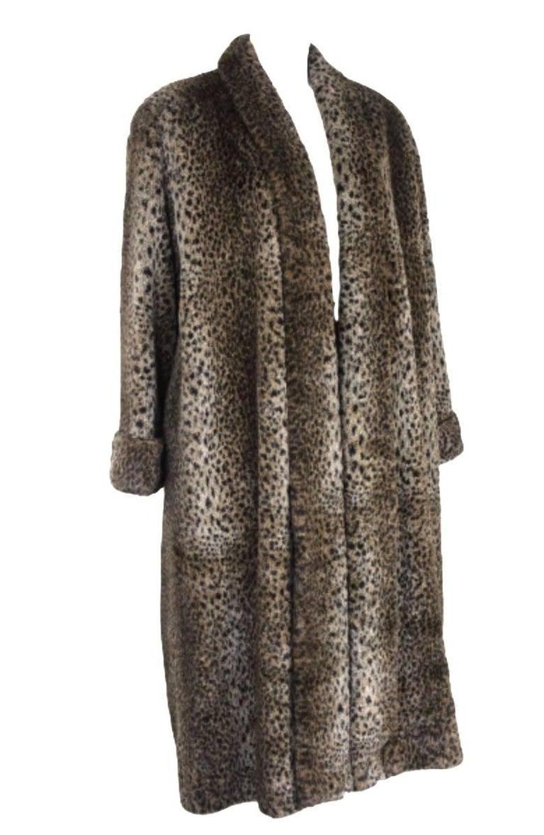 Comme des Garcons 1990s Faux Fur coat No size label  Excellent Condition