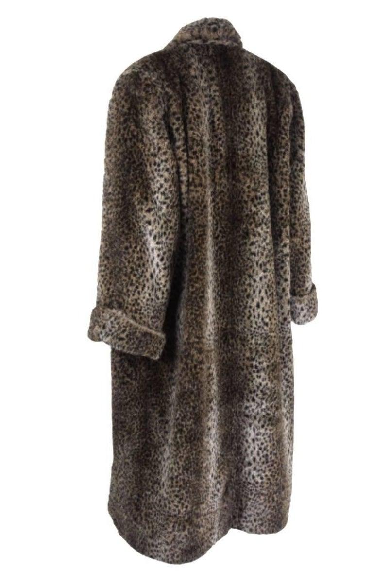 Women's Comme des Gracons 1990s Faux Fur Animal Print Coat For Sale