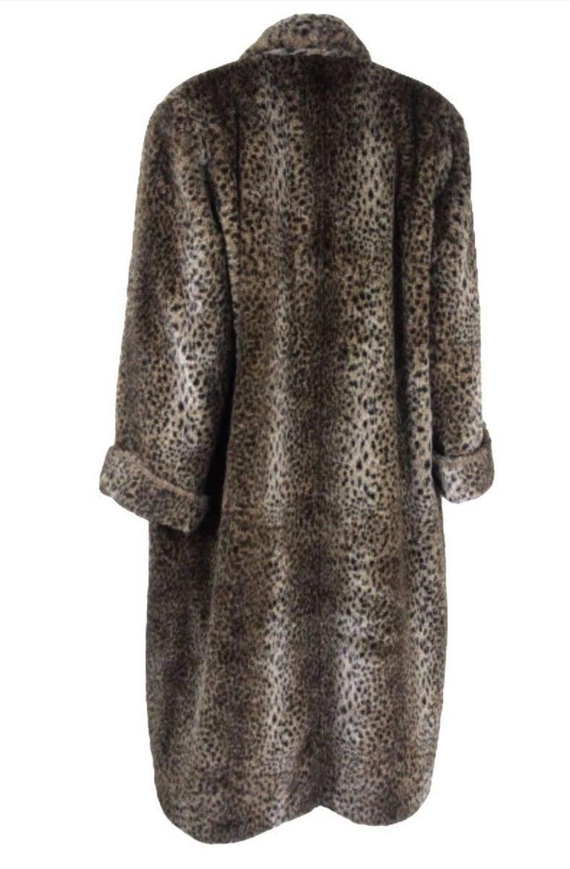 Comme des Gracons 1990s Faux Fur Animal Print Coat For Sale 1