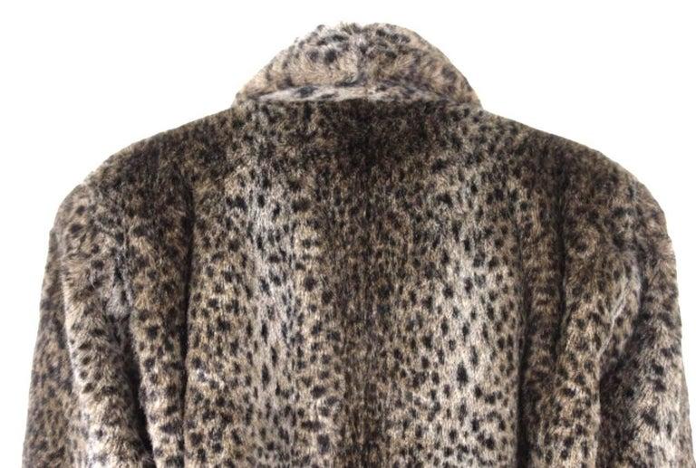 Comme des Gracons 1990s Faux Fur Animal Print Coat For Sale 2