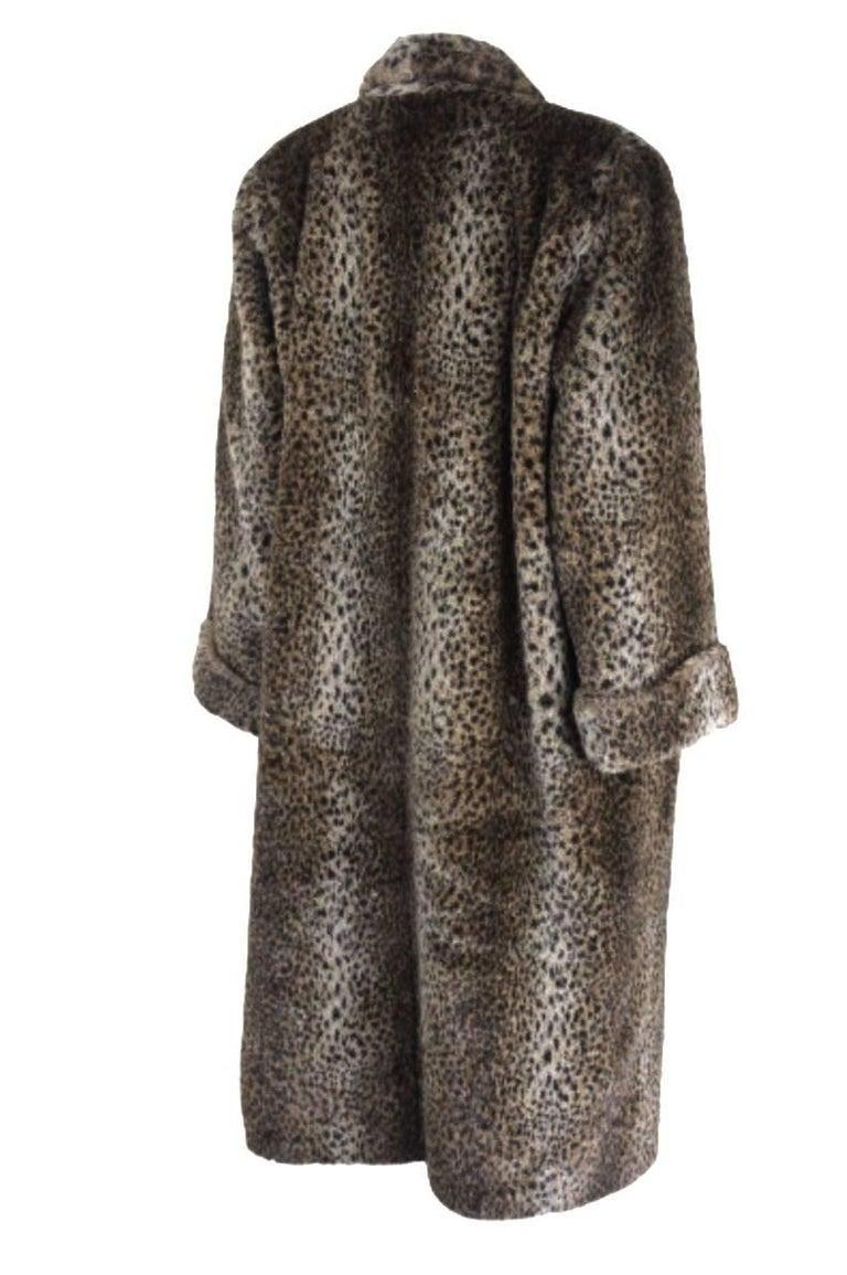 Comme des Gracons 1990s Faux Fur Animal Print Coat For Sale 3