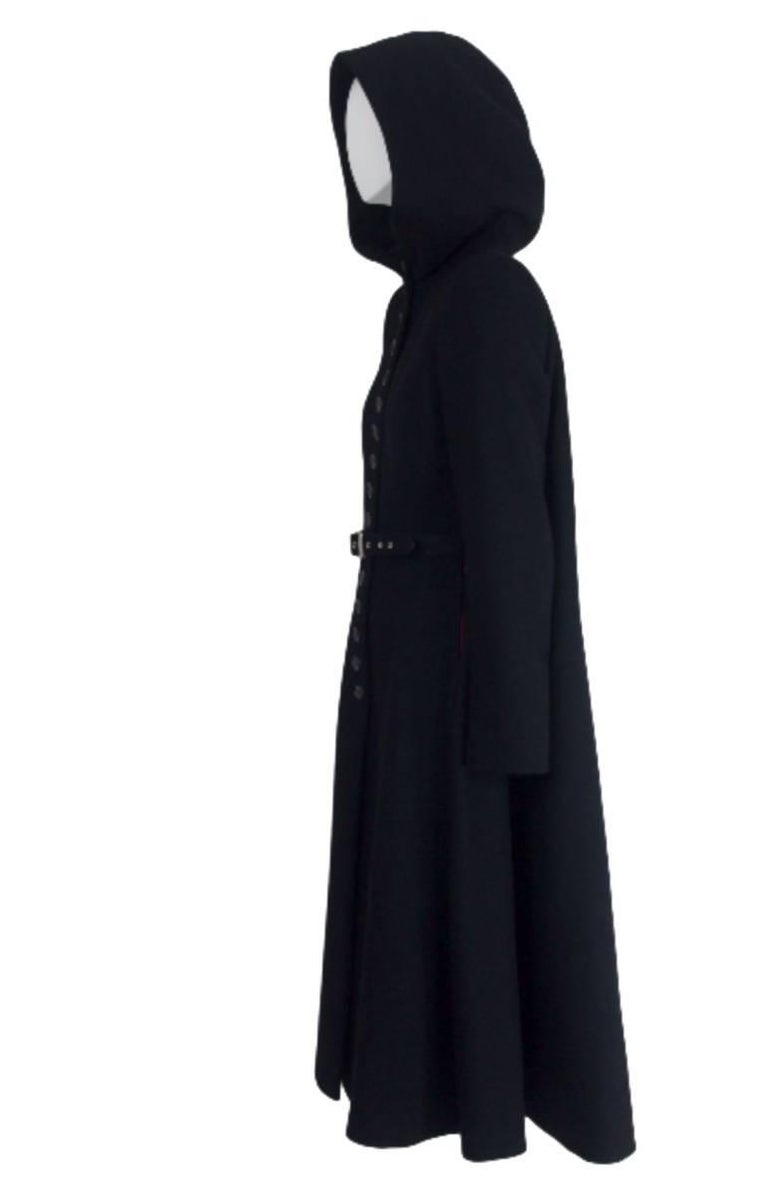 Alexander McQueen 1998 Joan Collection Runway Hooded Cape Back Coat 4