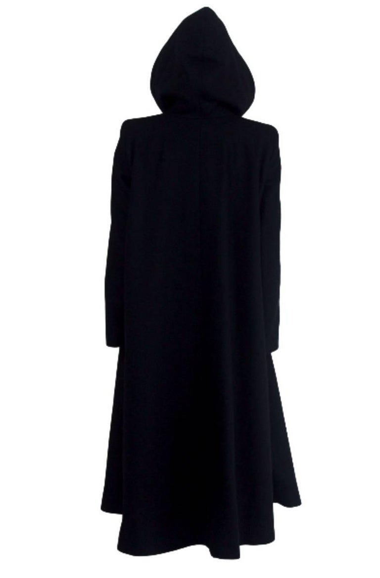 Alexander McQueen 1998 Joan Collection Runway Hooded Cape Back Coat 5