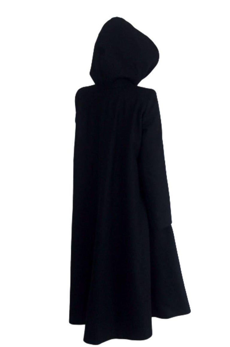 Alexander McQueen 1998 Joan Collection Runway Hooded Cape Back Coat 9