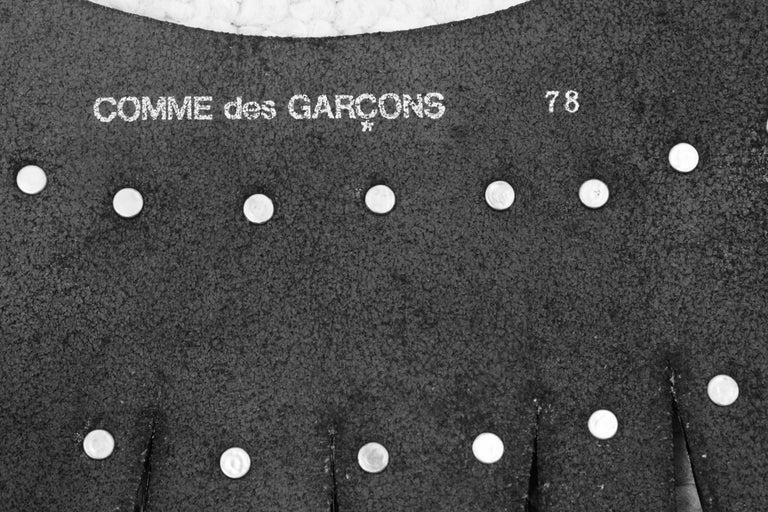 Comme des Garcons Vintage Hammered Metal Belt For Sale 4