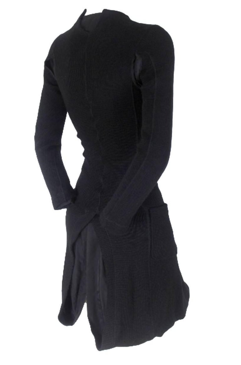 Junya Watanabe CDG 2007 Collection Loose Linning Wool Knit Dress For Sale 2