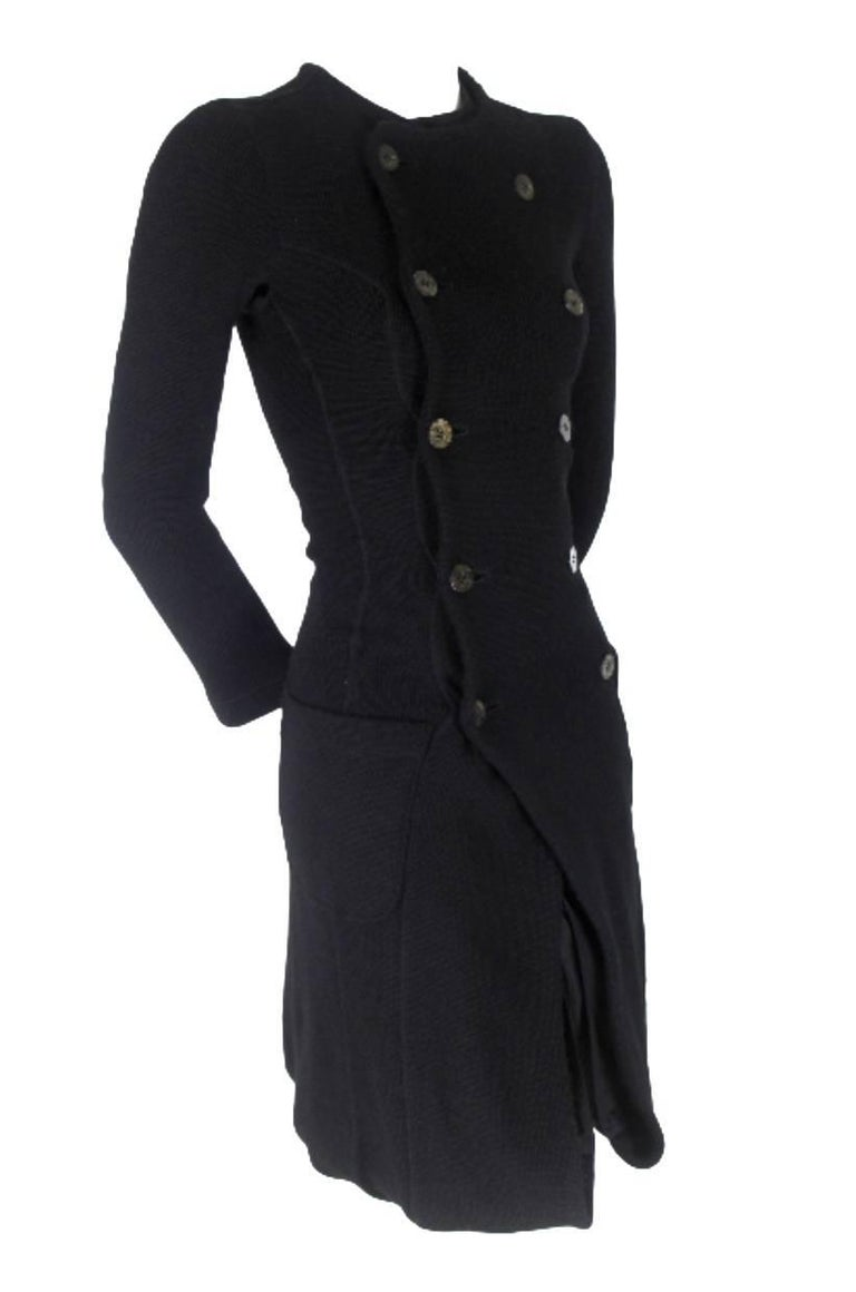 Junya Watanabe CDG 2007 Collection Loose Linning Wool Knit Dress For Sale 3