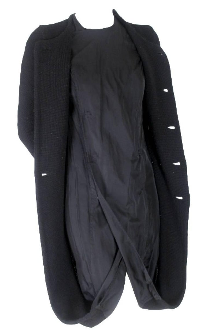 Junya Watanabe CDG 2007 Collection Loose Linning Wool Knit Dress For Sale 5