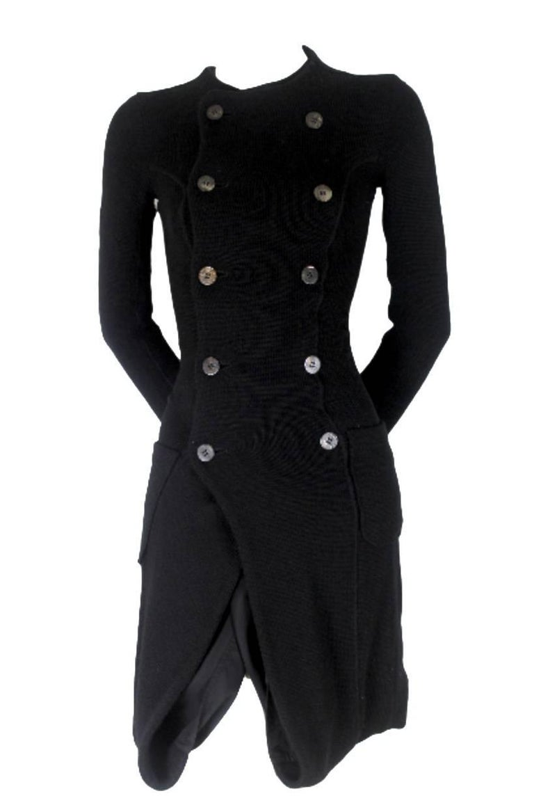 Junya Watanabe CDG 2007 Collection Loose Linning Wool Knit Dress For Sale 9