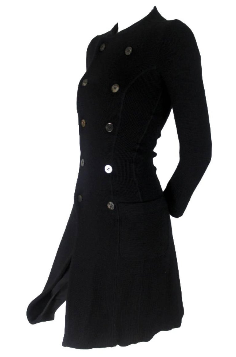 Junya Watanabe CDG 2007 Collection Loose Linning Wool Knit Dress For Sale 10